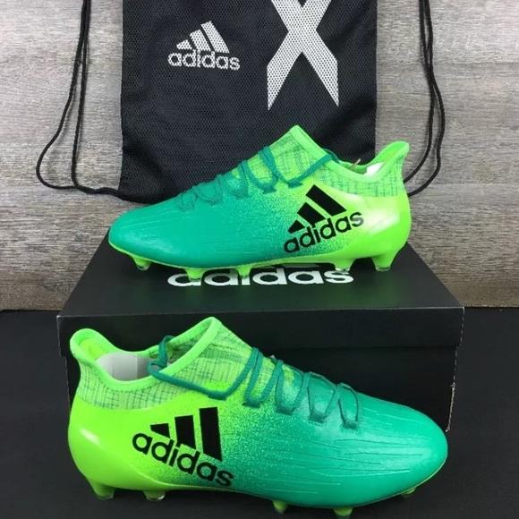 c05b2cd0788d Adidas X 16.1 FG Soccer Cleats Solar Green